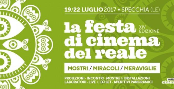 INIZIA IL 19 LUGLIO LA FESTA DI CINEMA DEL REALE 2017: MOSTRI, MIRACOLI E MERAVIGLIE IN UNO DEI BORGHI PIU' BELLI D'ITALIA